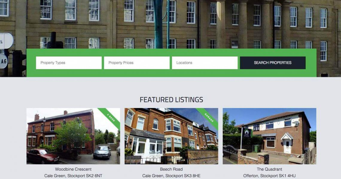 house estate agency website