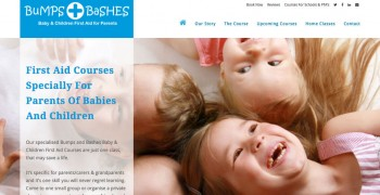 bumps and bashes first aid training website by fernandes creative