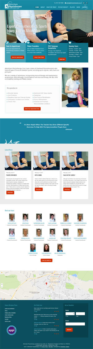 physiotherapy website by sue fernandes